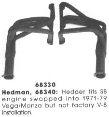 Hedman's Small Block V8 Vega Headers