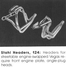 Stahl's #124 Small Block V8 Vega Street Headers